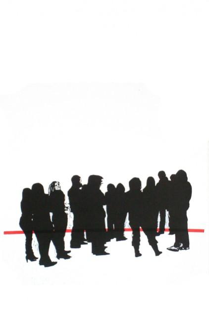Kunsthalle 2010 linogravure 100x60 cm